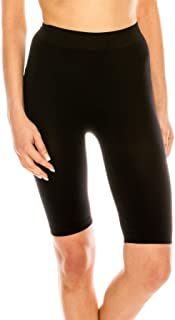 product image for Kurve Women's Basic Biker Shorts – High Waist Stretch Mid Length Leggings, UV Protective Fabric UPF 50+ (Made in USA)