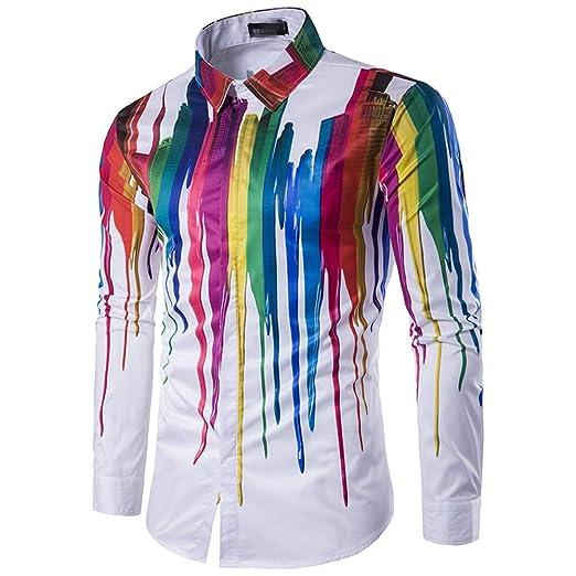 Cvbndfe Camisa de Vestir para Hombre Geek para Hombre ...