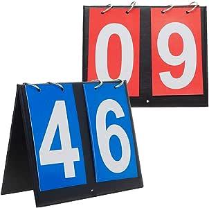 Gogo 2 Juegos de marcadores de Mesa portátil para Deportes, 00 – 99, Color Blue + Red Card, tamaño Talla única: Amazon.es: Deportes y aire libre