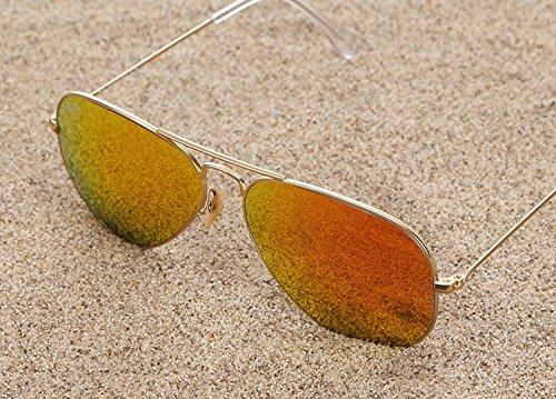 1a1baa863dbb Ray-Ban RB3025 Aviator 58mm Gold Orange Flash Sunglasses ...