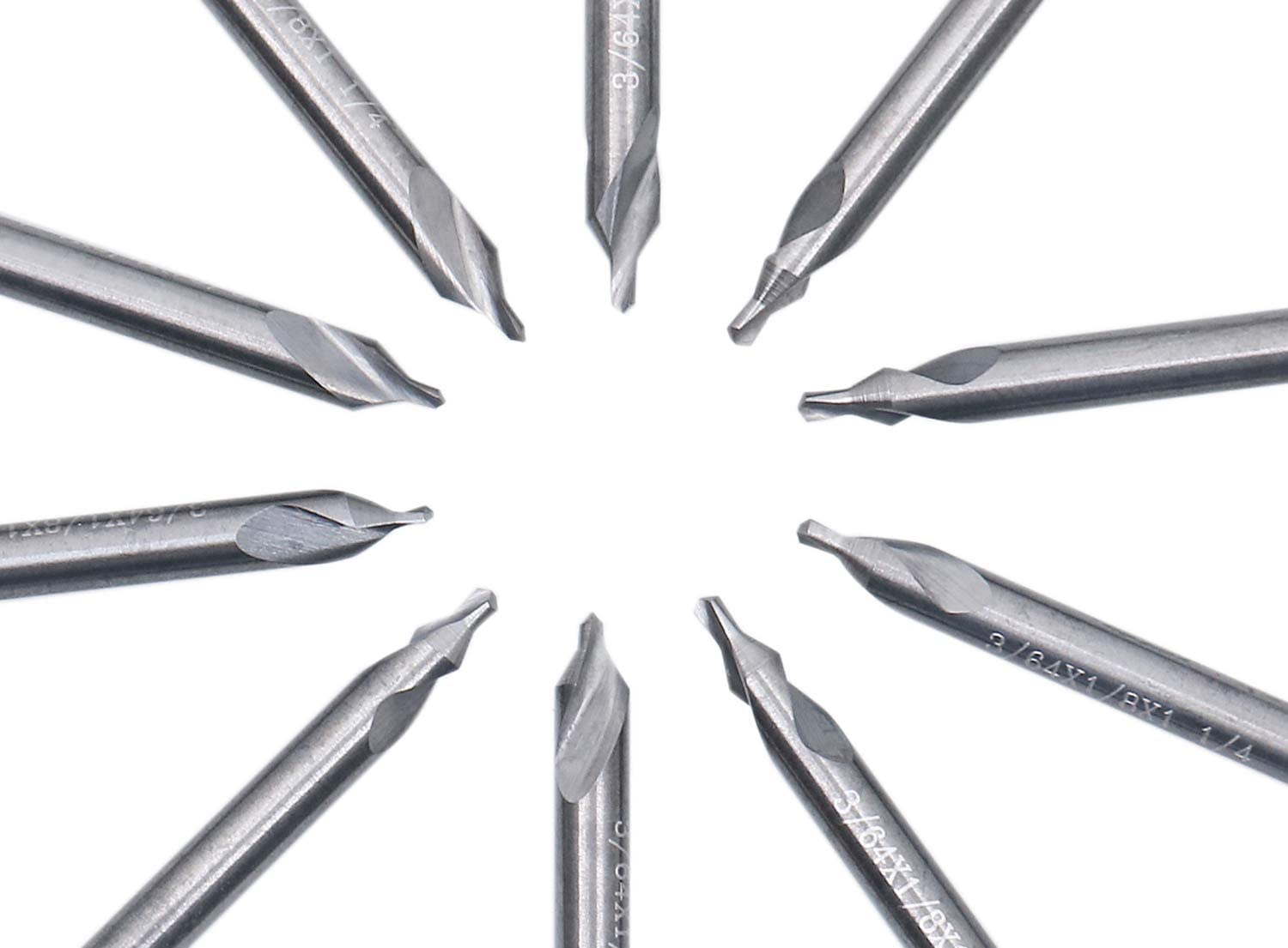 Accusize Industrial Tools 0.125 by 2-1//2 by 5//16 Solid Carbide Center Drill Bits Number 4 585-1250 60 Deg