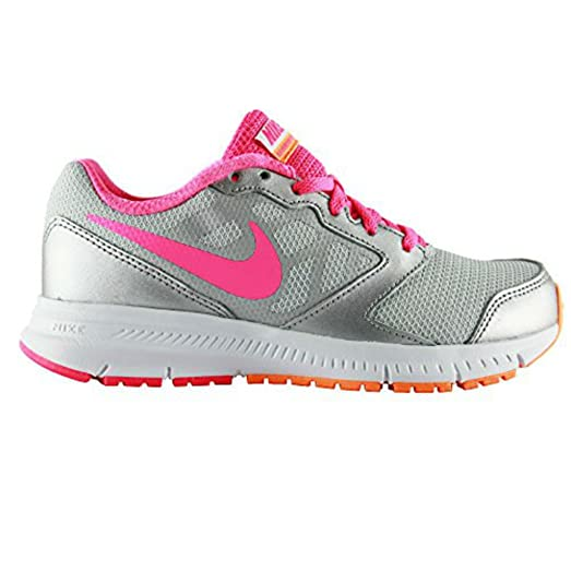 Nike Girls Downshifter 6 Running Sneaker Pr Pltnm/Pnk-Bright Ctrs-Mtl 5.5