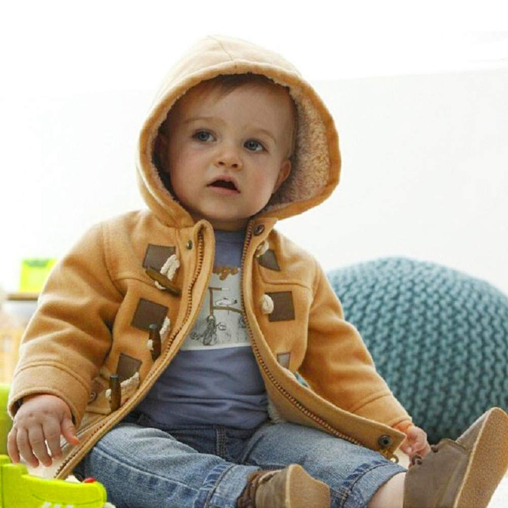 Oldeagle Unisex Baby Fleece Hooded Jacket Outerwear Zipper Winter Coat for Baby Boys Girls Infants Toddlers