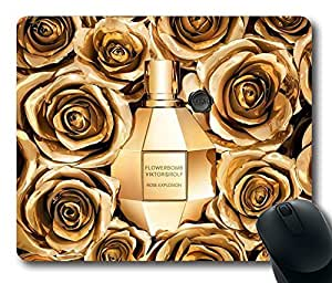 "Flowerbomb Gold Custom Rectangle Mouse Pad Oblong Gaming Mousepad in 220mm*180mm*3mm (9""*7"") -912006 by mcsharks"