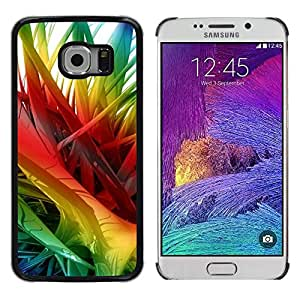 LECELL--Funda protectora / Cubierta / Piel For Samsung Galaxy S6 EDGE SM-G925 -- Rainbow 3D Art Spikes Hair --