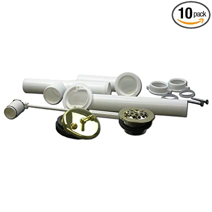 LASCO 03-4957 Bathtub Trip Waste and Overflow Assembly with 11//2-Inch PVC Tubular Chrome Plated