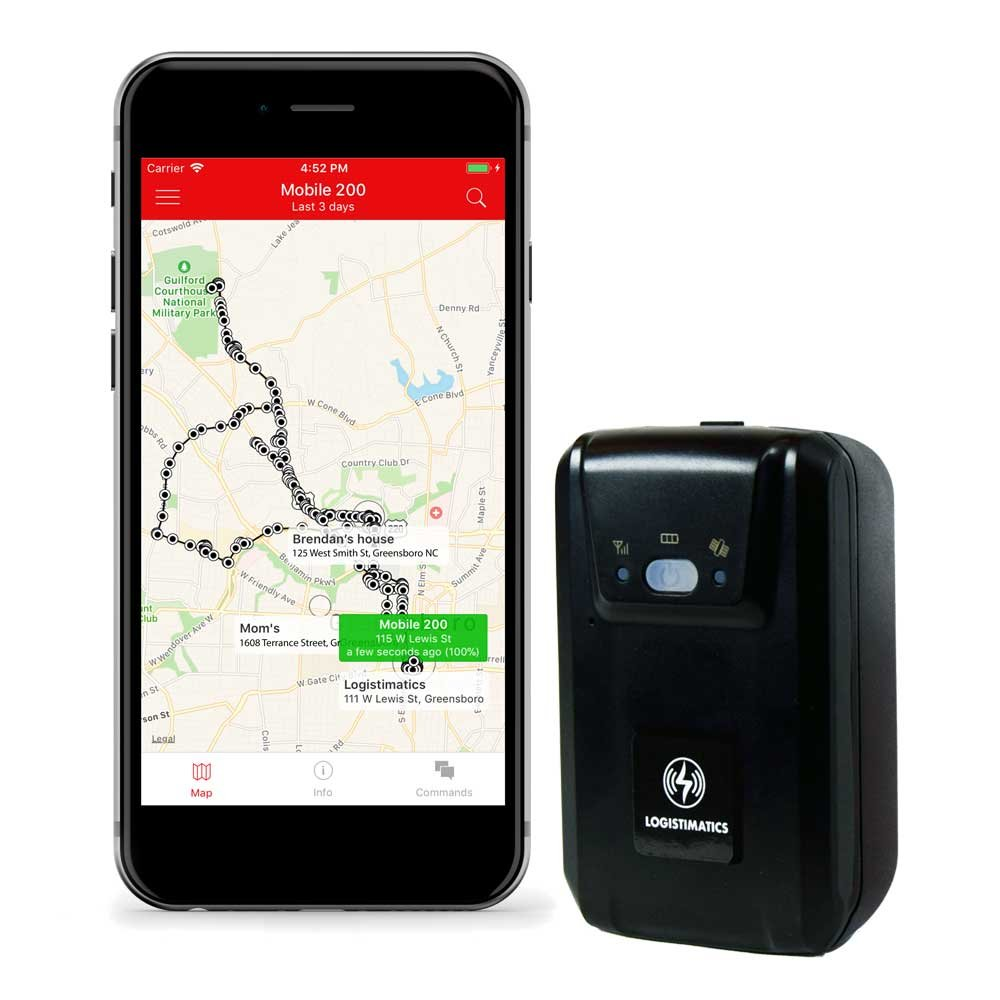 Logistimatics Mobile-200 Real Time Personal and Vehicle GPS Tracker With Live Audio Monitoring
