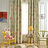 Cheap Leyden TM Grommet Top Cute Owl Print Window Curtain Panels for Kid's Room, 50-Inch by 96-Inch, Green(1 Panel) Custom Size