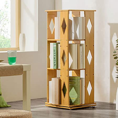 ZXY 360° Giratorio Bambú Estante para Libros, 6 Niveles Estante Ajustable Estrecha Moderno Multi-Capa Repisa Escalera Estante Abierto Suelo Simple Niños Estudiantes-A 37x37x95cm(15x15x37): Amazon.es: Hogar