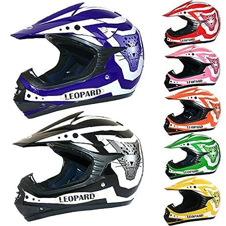 Leopard LEO-X17 Casque de Moto de Casques Motocross Bicyclette ATV ECE 22-05 Approbation | Rouge L (53-54cm) Touch Global Ltd