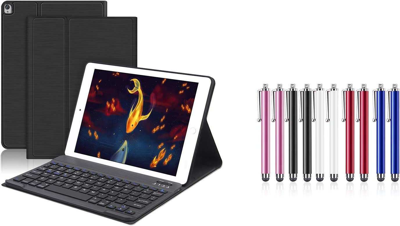 "iPad Accessories,Bundled Product of iPad Keyboard Case and 10 Pack Stylus Pens for 10.2"" iPad 8th Gen 2020/iPad 7th Generation 2019-iPad Air 3rd Gen 2019-iPad Pro 10.5"" 2017"