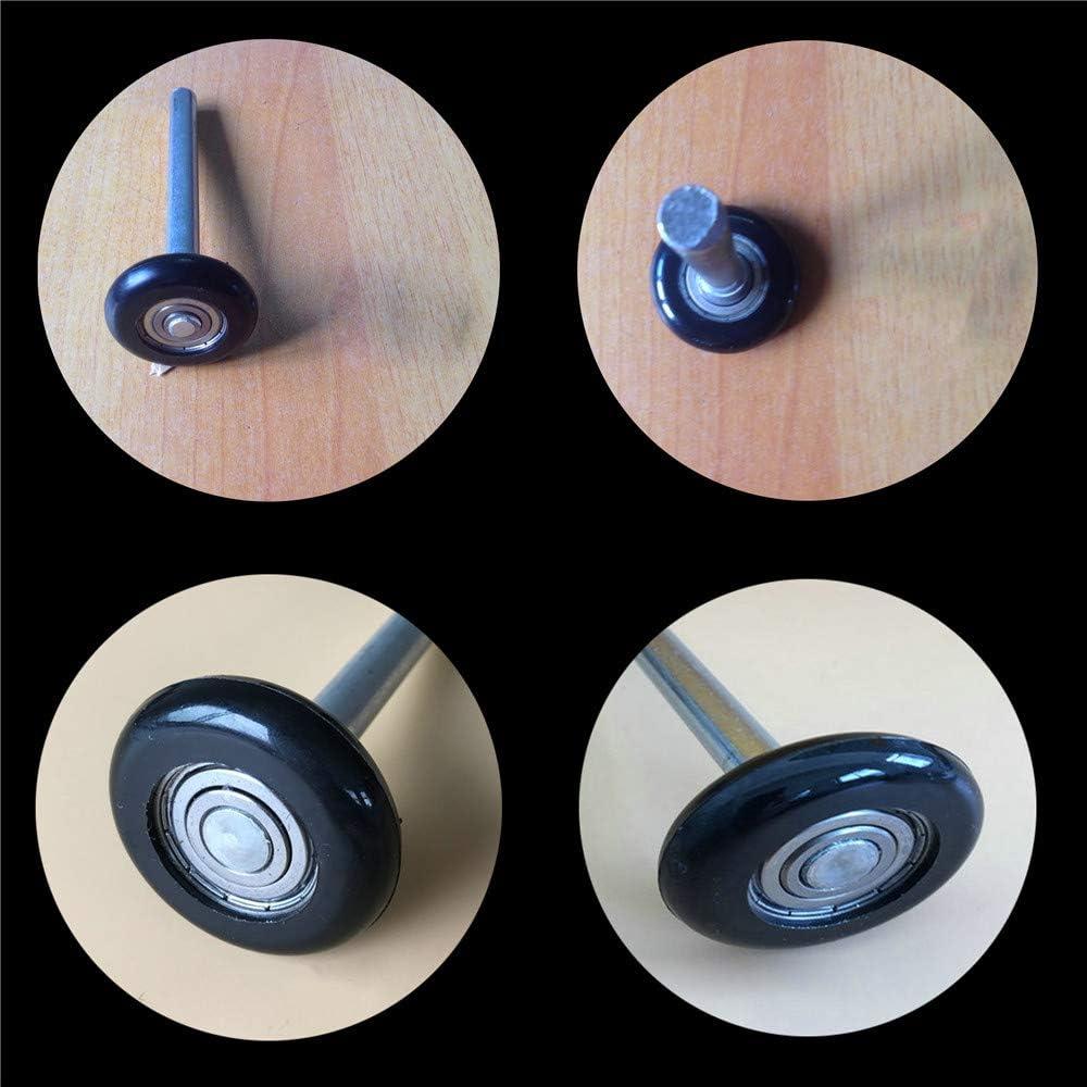Eagles - Rodillo para puerta de garaje de 2 pulgadas con rodamientos sellados, ruedas de nailon para puerta de garaje, giratorio, silencioso y duradero, eje negro de 4 pulgadas, 12 unidades: Amazon.es:
