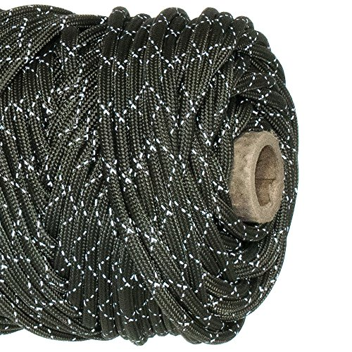 Paracord Planet Reflective Tracer 700lb Paracord - 100% Nylon High Visibility Cord