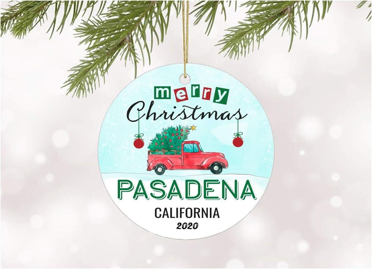 Pasadena Christmas Tour 2020 Amazon.com: Ornament Decoration Merry Christmas 2020 Pasadena