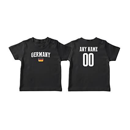 32617e2d0a8 nobrand Germany T-shirt Kids Infant Country Flag Tee Personalized World Cup  Pride (Black
