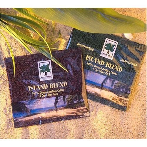 Island Blend 4 Cup Filter Pack Coffee (Regular), 125 Pack