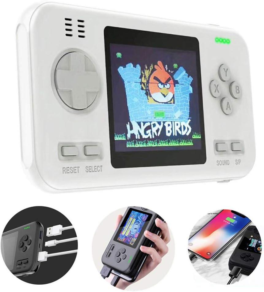 LucBuy Retro Game Handheld-Konsole tragbares Retro-Videospiel mit 2 Anschl/üssen und 2.1 A 2.8-Zoll-Farbdisplay FC PVP Gamboy Power Bank 8000 mAh integrierte 416 kleine Spiele
