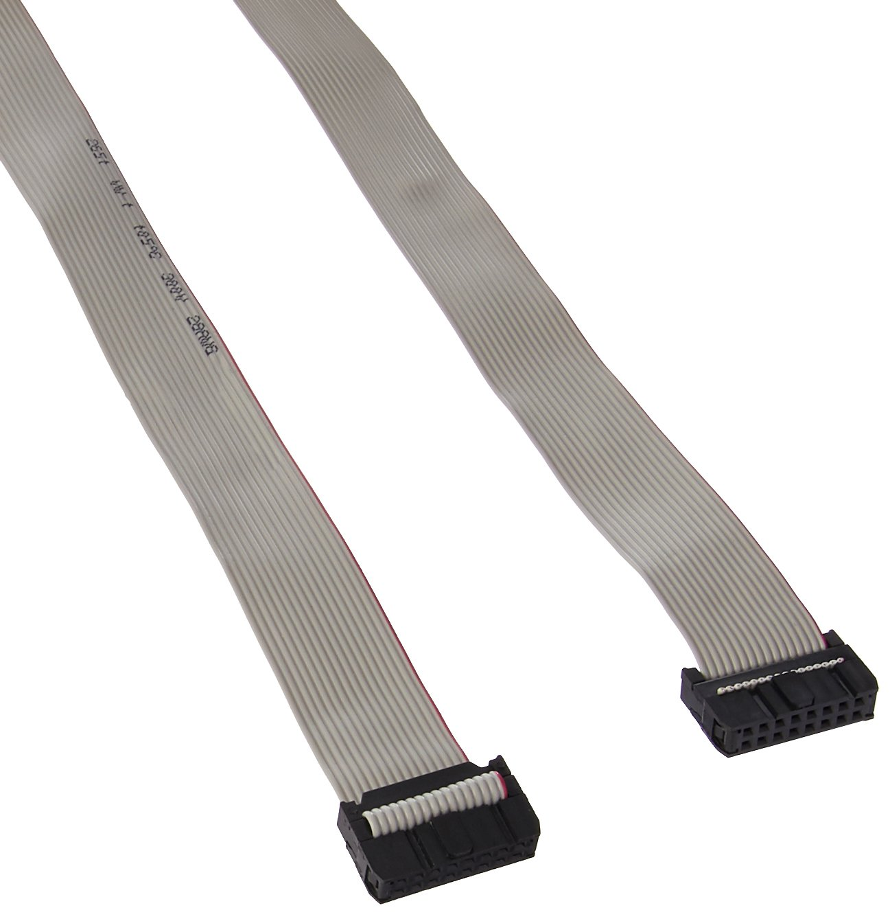 Uxcell IDC Flat Ribbon Cable, 2.54 mm Pitch, 16 Pin, 100 cm Length, 3 Pieces