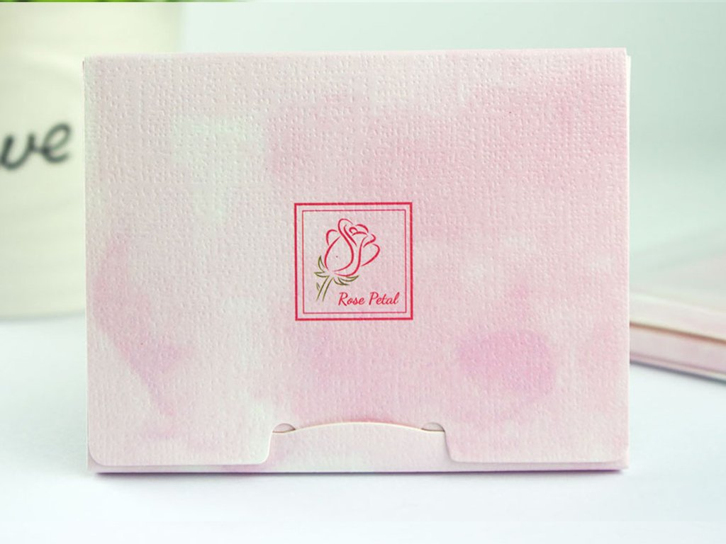 2 Pack of Pretie Rose Petal Facial Blotting Papers, Oil Absorbing sheets(160 counts in total). Pop-Up Inter-folded sheets.