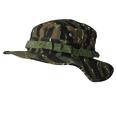 Army Boonie Bush Jungle Hat Cap Tiger Stripe Camo SIZE M