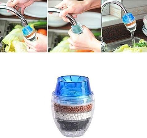 Rubinetto acqua purificata carbone di bamb/ù doppio filtro purificatore testa pulizia casa strumento colore casuale