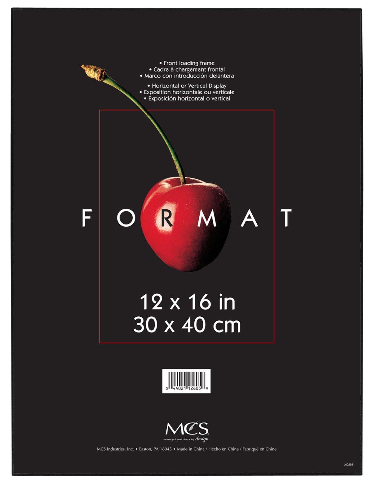 MCS 12x16 Inch Format Frame, Black (12605) by MCS