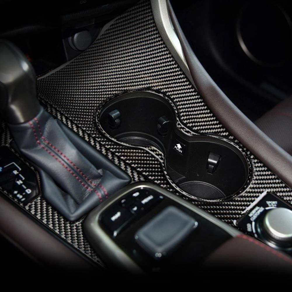 SLONGK For Lexus RX300 270 200T 450H 2016-2019,Carbon Fiber Car Gearshift Water cup Panel Cover Decoration Center Console Accessories