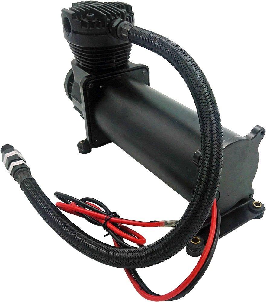 Vixen Air 200 PSI Heavy Duty Suspension/Air Ride/Bag/Train Horn Air Compressor/Pump with 3/8'' Braided Hose, 3/8'' NPT Check Valve and Remote Mount Air Filter Kit 12V Black (Dual Pack) VXC480BDP by Vixen Air (Image #3)