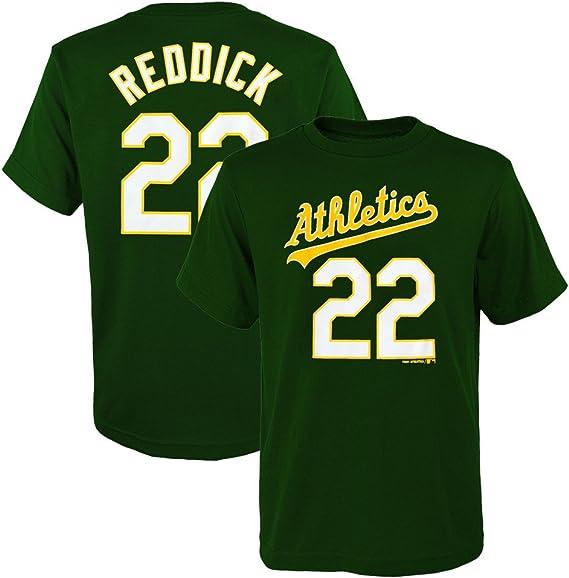 OuterStuff Josh Reddick MLB Oakland Athletics Player Home Jersey T-Shirt Boys Youth XS-2XL