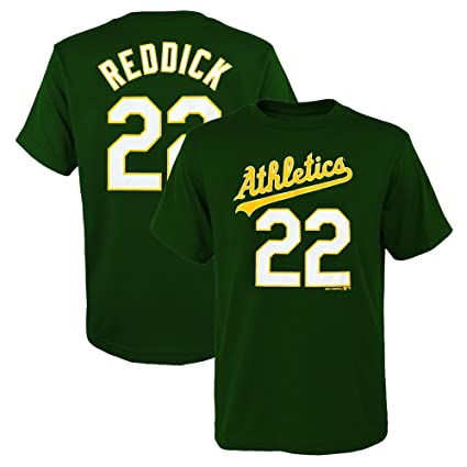 sports shoes f3836 61342 Outerstuff Josh Reddick MLB Oakland Athletics Player Home Jersey T-Shirt  Boys Youth XS-2XL