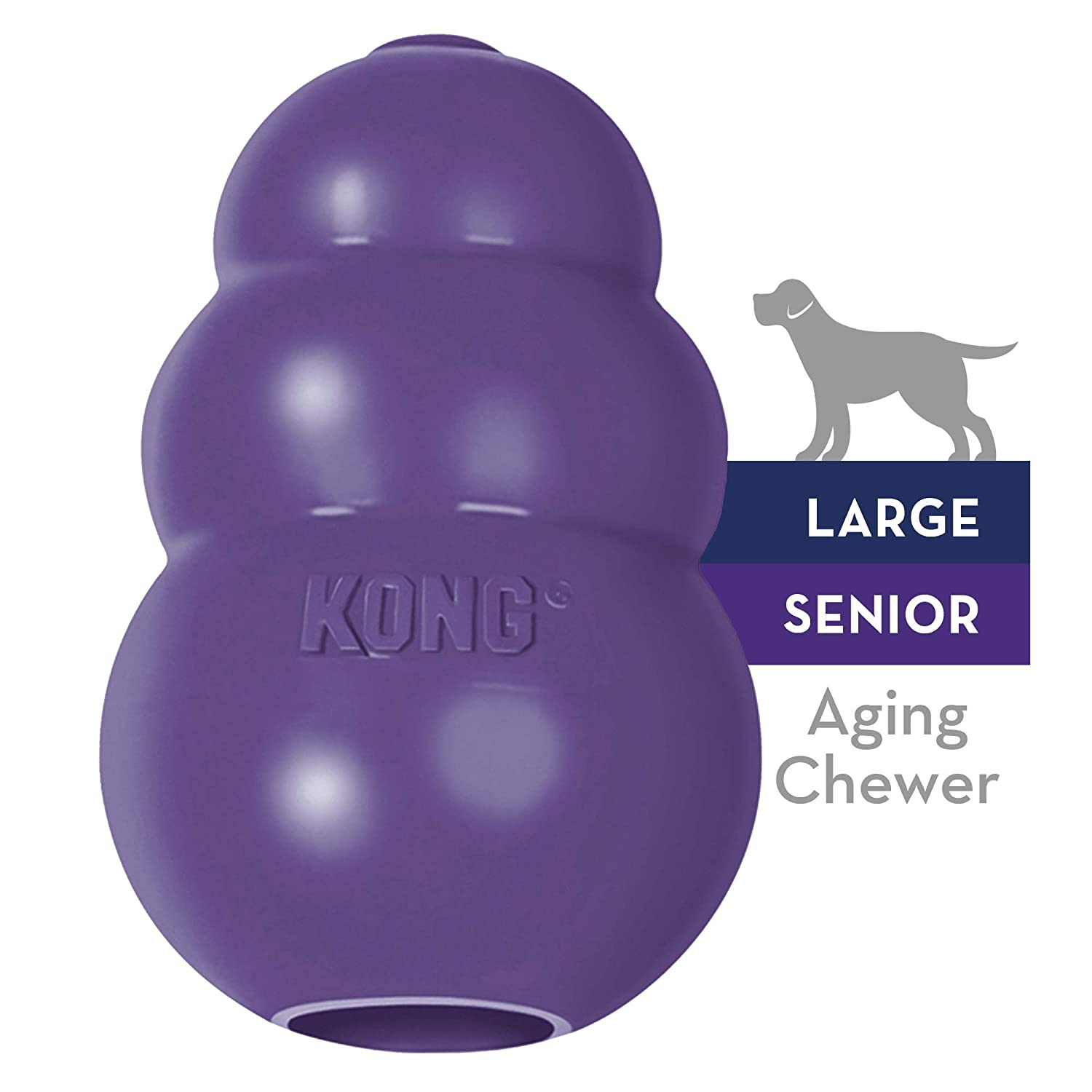 KONG - Senior Dog Toy - Gentle Natural Rubber - Fun to Chew, Chase and Fetch