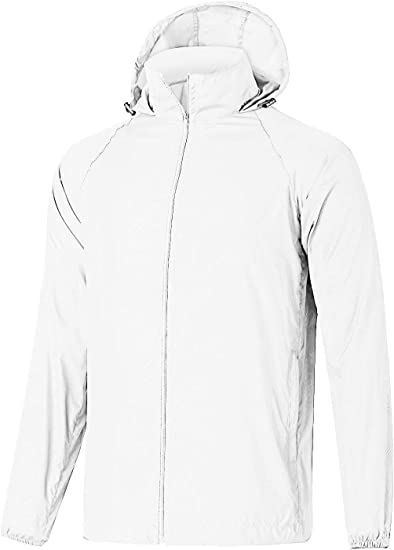 Sebaby Mens Waterproof Light Weight Full Zip Jersey Venture Jacket
