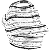 zip car seat cover - Baby Car Seat Cover Canopy Arrows - Very Breathable, Soft, Silky and Stretchy - Snuggly and Warm - Multi-Use Nursing Cover for Breastfeeding, Infinity Scarf, Fits Most Shopping Cart and Strollers