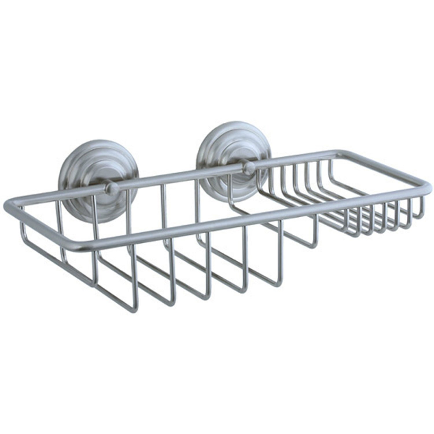 Cifial 477.875.620 Wall-Mounted Double Basket-Style Soap Holder, Satin Nickel