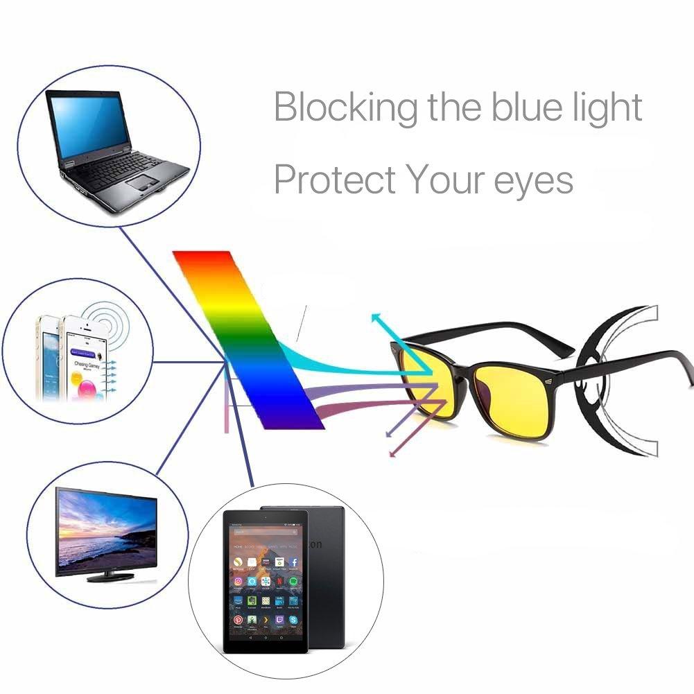 VOSO Blue Light Blocking Gaming Glasses Anti Glare Yellow Lens Eyewear for PC Laptop Gamer Computer Reading