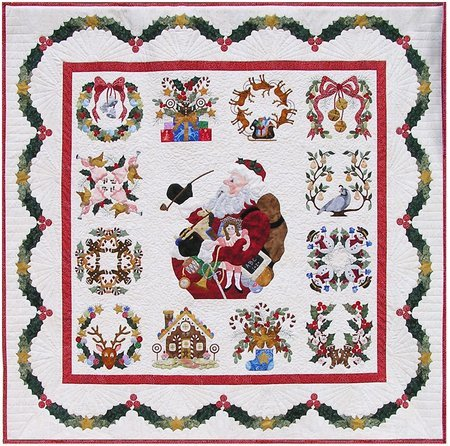 P3 Designs Baltimore Christmas BOM Block of Month Patterns Set by P3 Designs