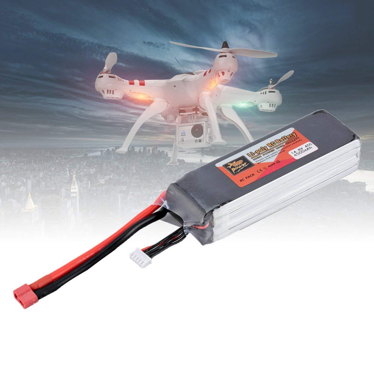 Tree-of-Life ZOP Power 14.8 V 4500 mAh 45C 4S 1P Lipo Batteria T Plug Ricaricabile per RC Racing Drone Quadcopter Elicottero Car Boat