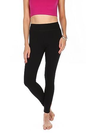 3de541abe473a6 Premium Cotton Spandex Leggings - Full Length Breathable Cotton Fabric-  Small Size (Small,