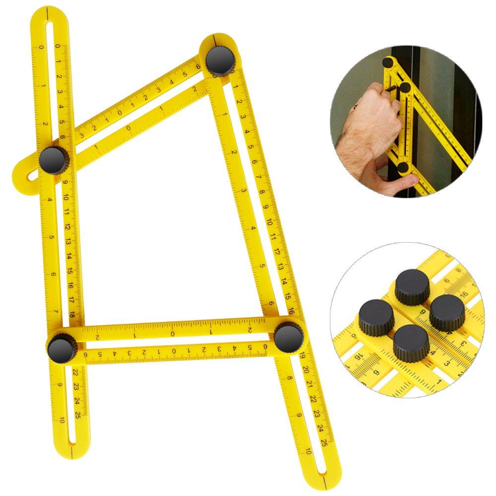 iRainy Angleizer R/ègle multi-angle constructeurs r/ègle pliable mesurant tous les angles pour Ing/énieurs Artisans