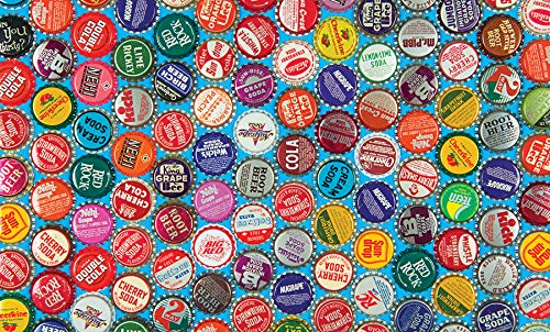 Collectible Vintage Soda Bottle Caps 300 Piece Colorluxe Premium Jigsaw Puzzle