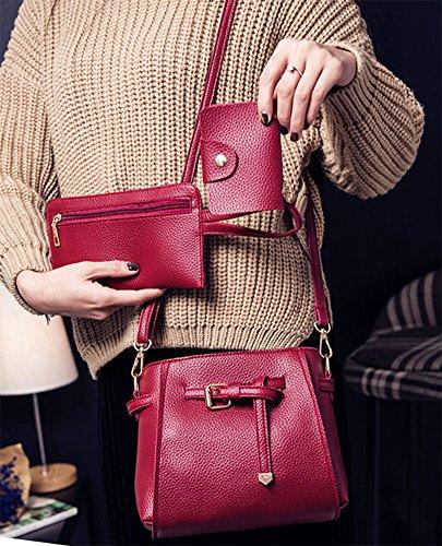 Handbag Red Bag Shoulder Bags Tote Tassel 4 Leather QZUnique Women's Bag Bags Crossbody PU wTYOSX