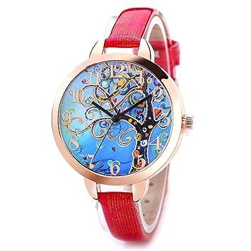 FD047 Montre pour femme dans le style chinois, belle et élégante montre décorative. rouge
