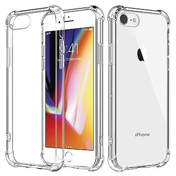 BIZHIKE Funda para iPhone 6/6S Plus Carcasa Silicona Transparente Protector TPU Airbag Anti-Choque Ultra-Delgado Anti-arañazos Case -Transparente