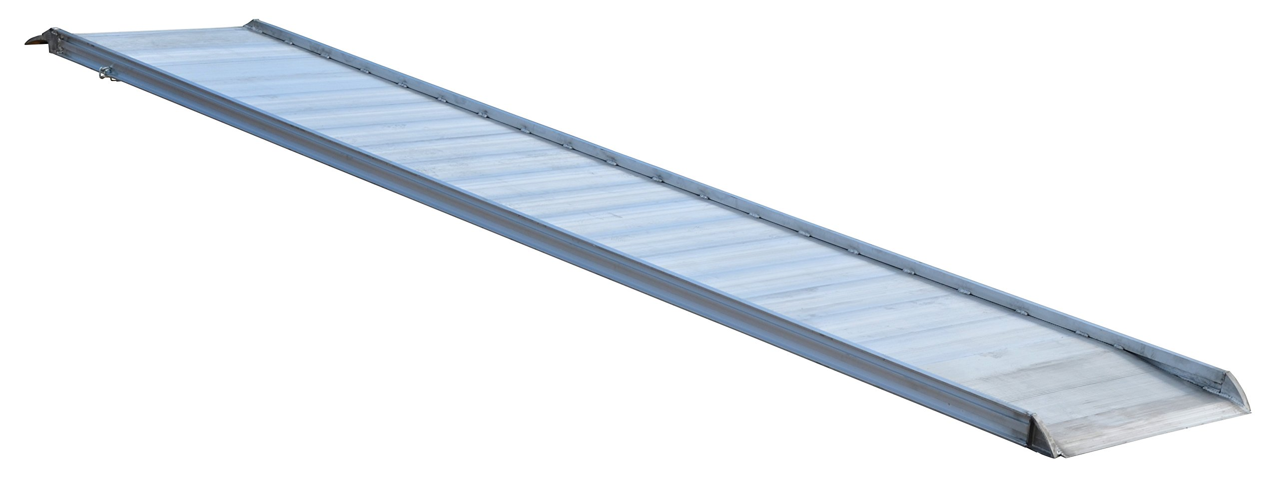 Vestil AWR-38-10B Aluminum Walk Ramp Hook Style, 2200 lb., 120'' Length, 38'' Width, 4.3125'' Height
