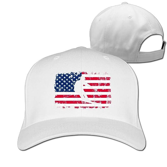 59de08a836c Hizf Cap Alpine Skiing American Flag Men Snapback Baseball Caps Hip Hop  Durable Cotton Polo Hats at Amazon Men s Clothing store