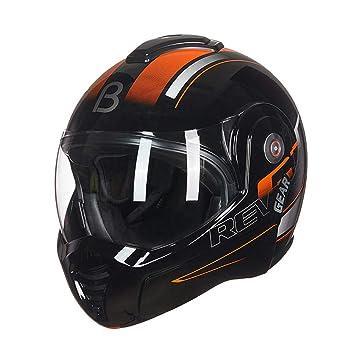LXLX Cascos de moto, cascos para adultos Casco abatible integral unisex Seguridad ligera y transpirable