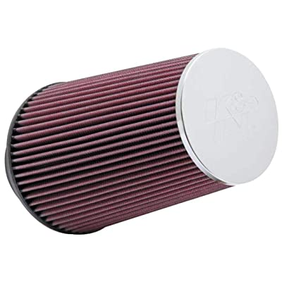 K&N Universal Clamp-On Air Filter: High Performance, Premium, Washable, Replacement Filter: Flange Diameter: 3.5 In, Filter Height: 9 In, Flange Length: 1.75 In, Shape: Round Tapered, RC-3690: Automotive