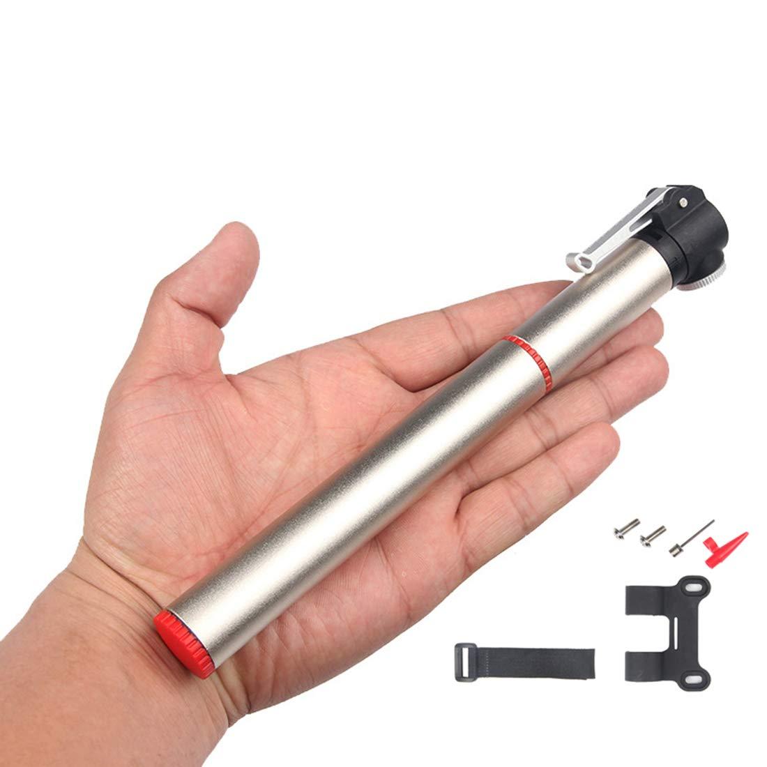 USUNO ポータブルポケットポンプ 自転車ポンプ ボールポンプ エアポンプ 仏式と米式バルブに対応 高圧120PSI対応 アルミ合金   B075JL732D