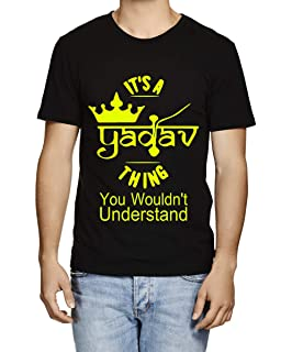 ee2a2b04 Caseria Men's Cotton Graphic Printed Half Sleeve T-Shirt - It's A Yadav  Thing