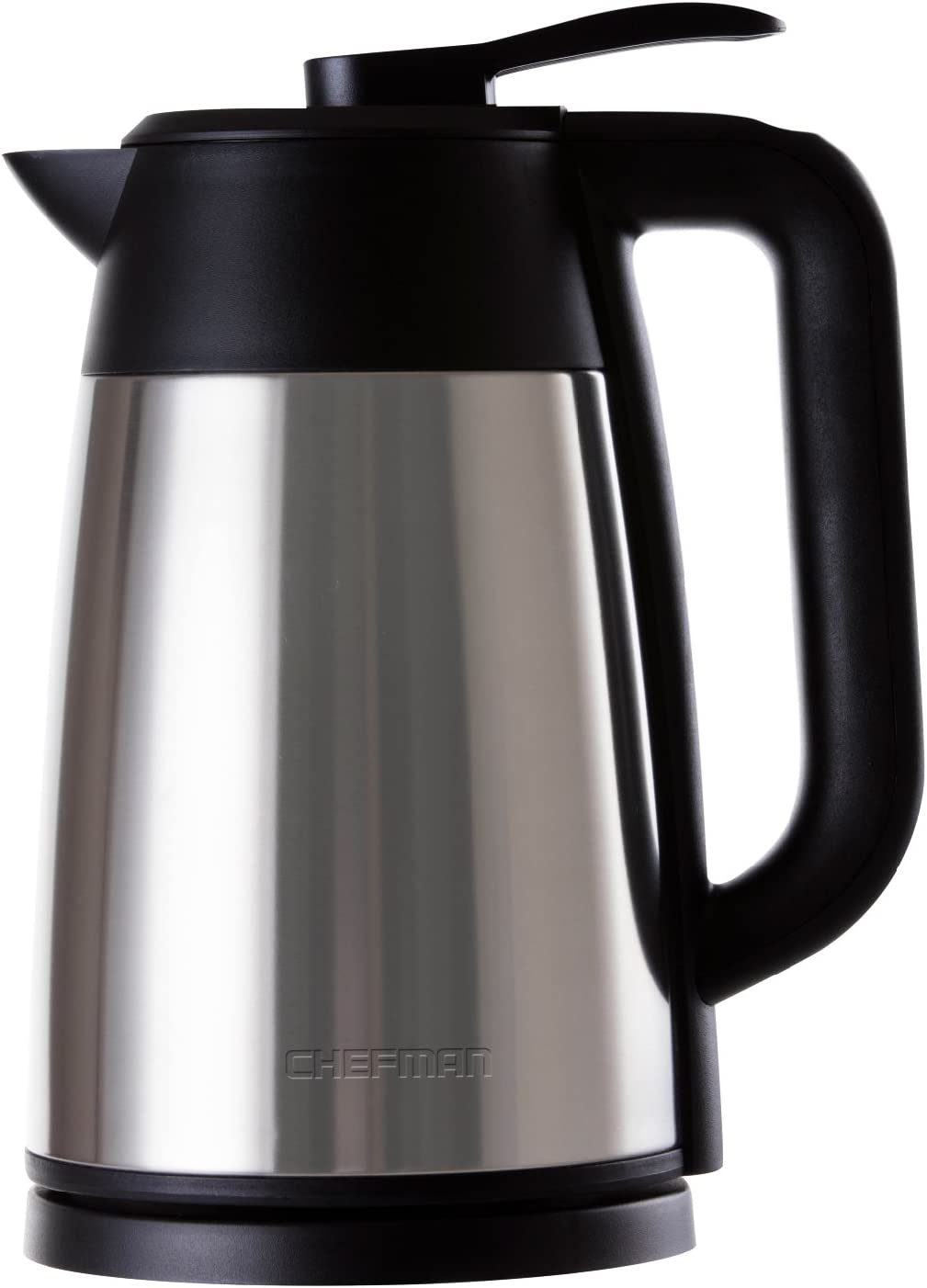 Chefman Stainless Steel Premium Grade Carafe Style w/Digital Temp Display, Heat Retaining Vacuum Seal, Auto Shut Off & Boil Dry Protection, 7+ Cup 1.7L/1.8qt